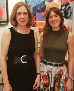 Gallery Director Catherine Miller and her daughter Cordelia Miller